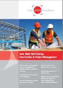 Black Belt Training construction and projectmanagement