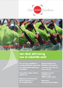 Black Belt Training Industriële sector